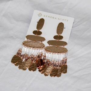 New Kendra Scott Nicole Large RoseGold Earrings